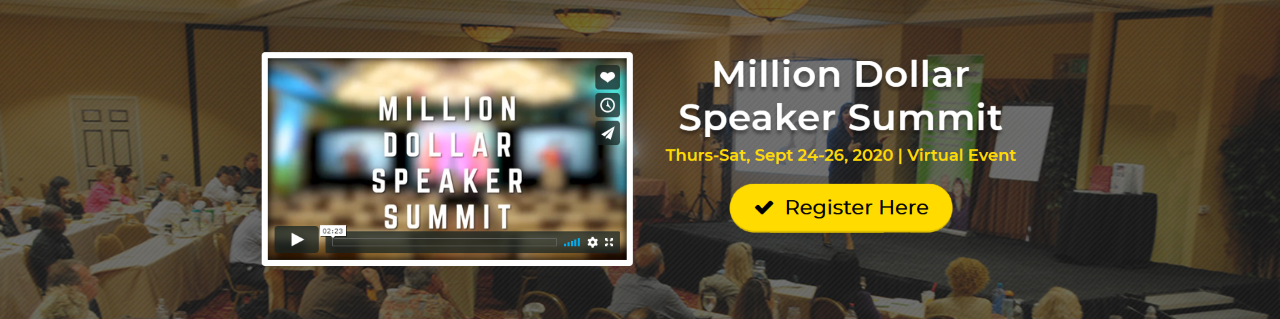 Million Dollar Speaker Summit - Virtual Event
