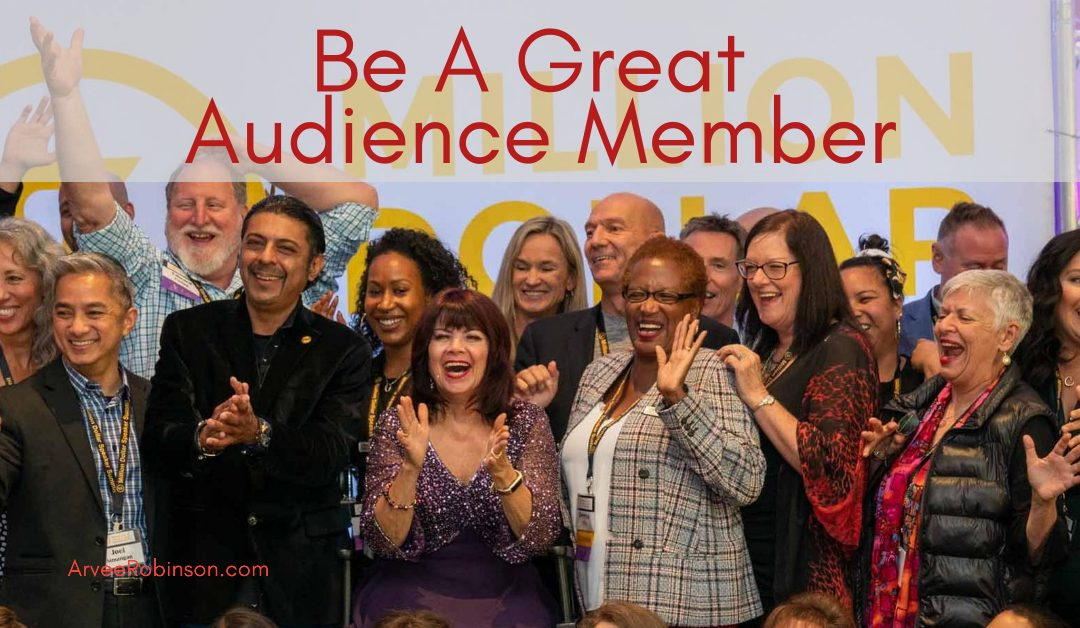 How to Be A Better Audience Member in the Virtual Arena