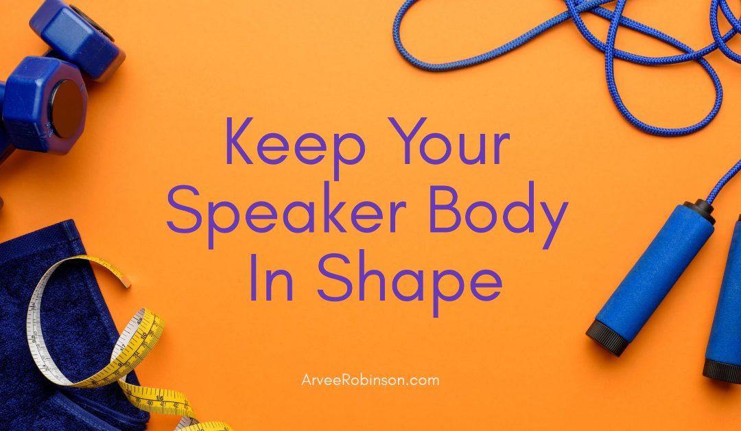 speaker self care